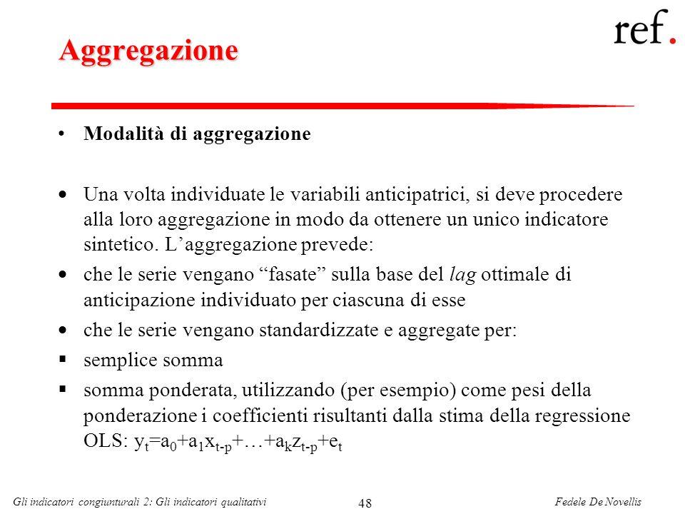 Aggregazione Modalità di aggregazione