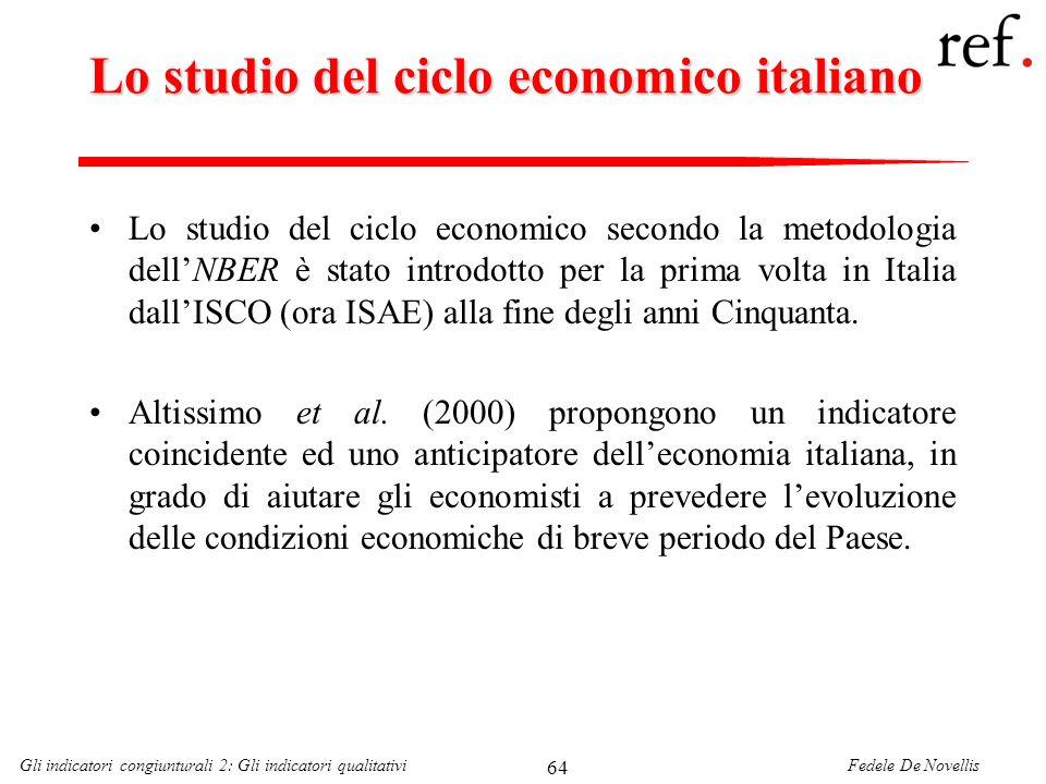 Lo studio del ciclo economico italiano