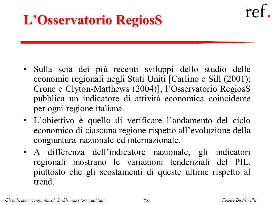L'Osservatorio RegiosS