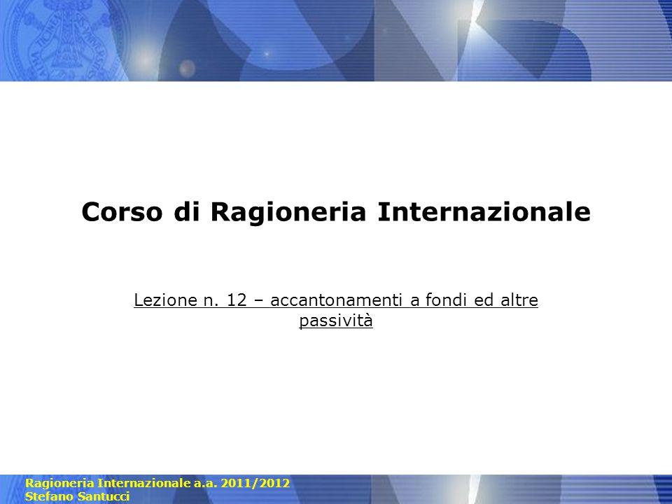 Corso di Ragioneria Internazionale