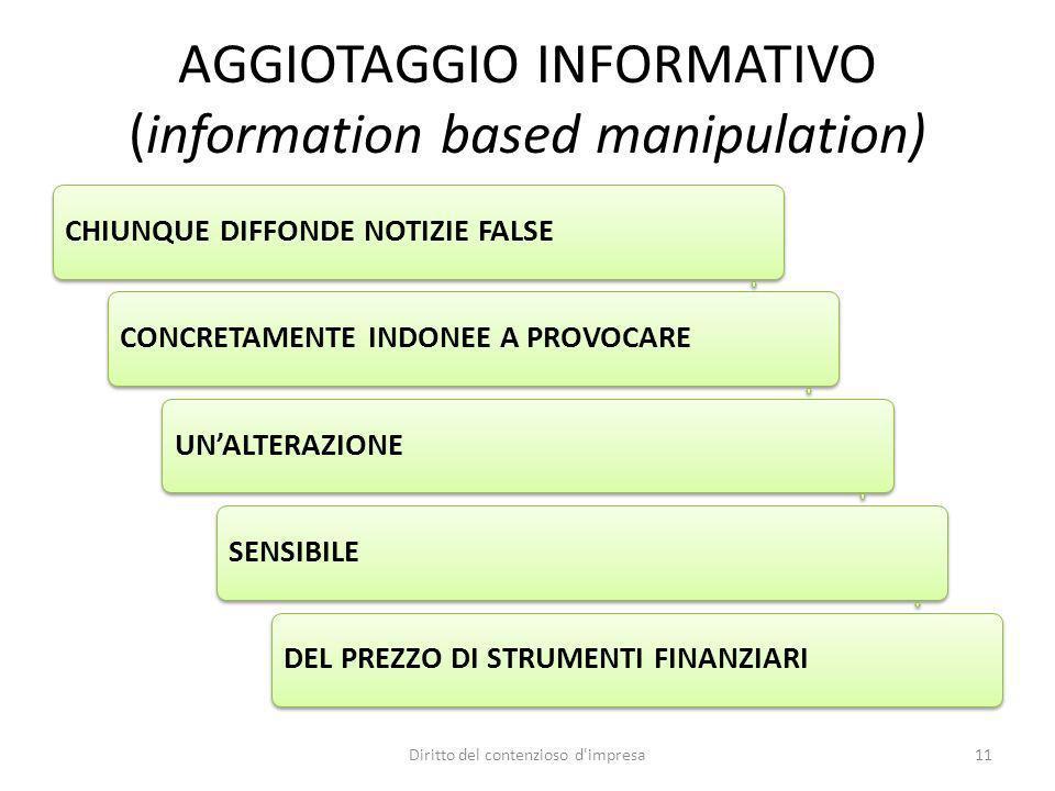 AGGIOTAGGIO INFORMATIVO (information based manipulation)