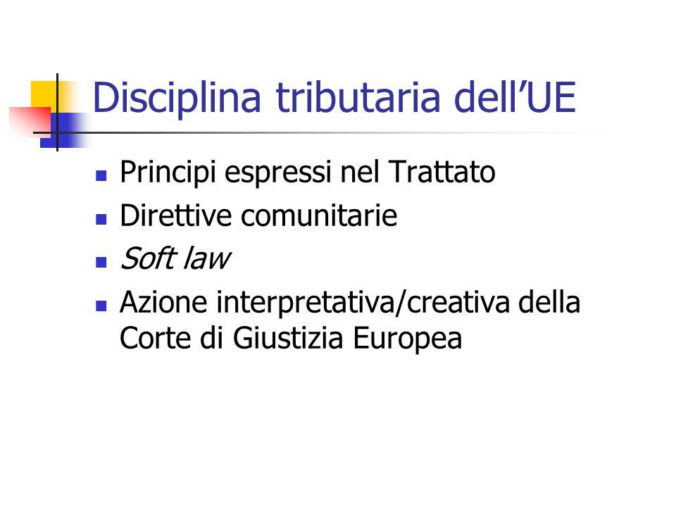 Disciplina tributaria dell'UE