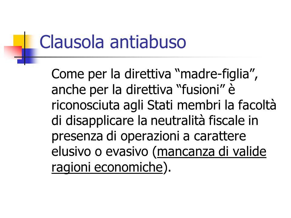 Clausola antiabuso