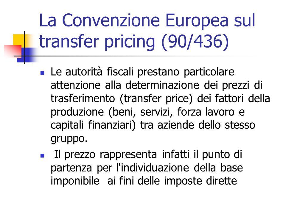 La Convenzione Europea sul transfer pricing (90/436)