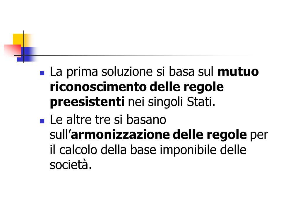 La prima soluzione si basa sul mutuo riconoscimento delle regole preesistenti nei singoli Stati.