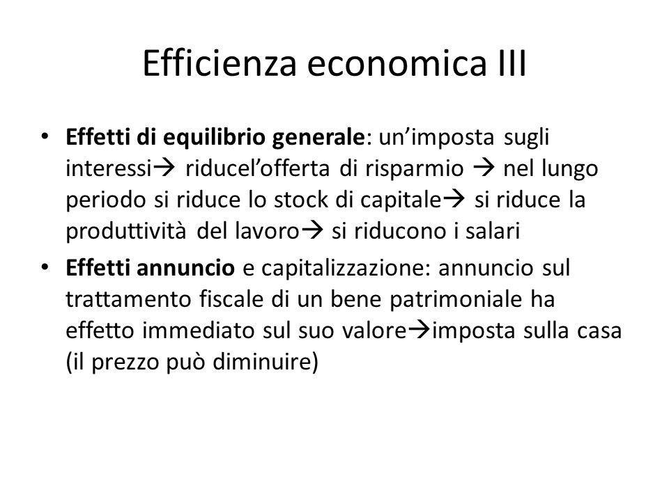 Efficienza economica III