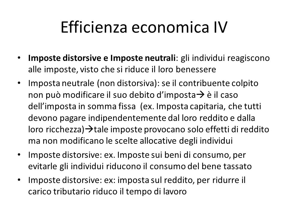 Efficienza economica IV