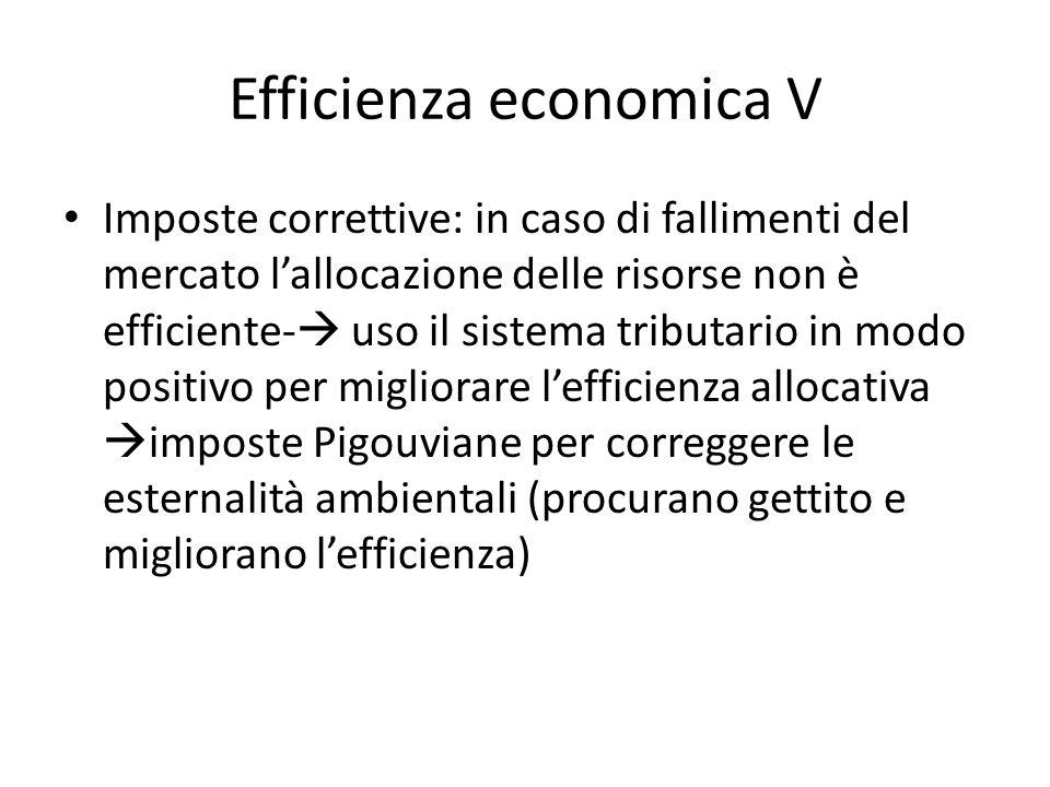 Efficienza economica V
