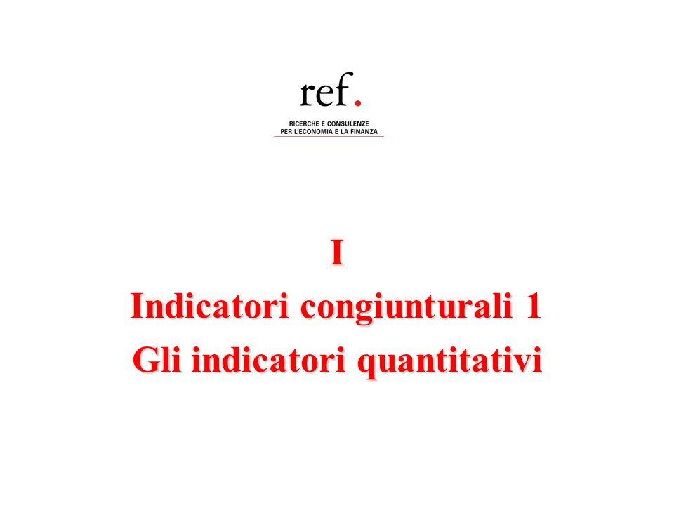 Indicatori congiunturali 1 Gli indicatori quantitativi
