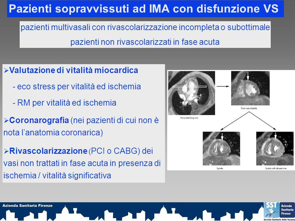 Pazienti sopravvissuti ad IMA con disfunzione VS