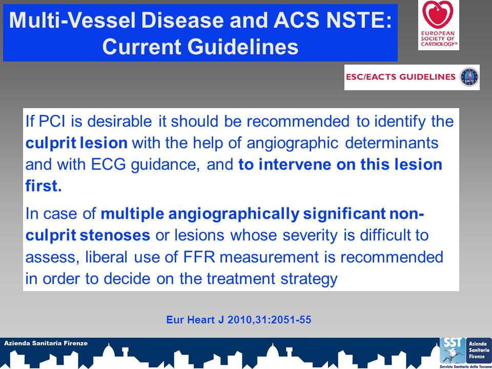 Multi-Vessel Disease and ACS NSTE: