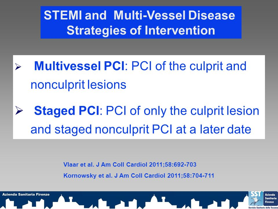 STEMI and Multi-Vessel Disease Strategies of Intervention