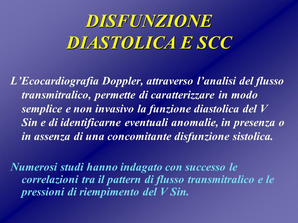 DISFUNZIONE DIASTOLICA E SCC