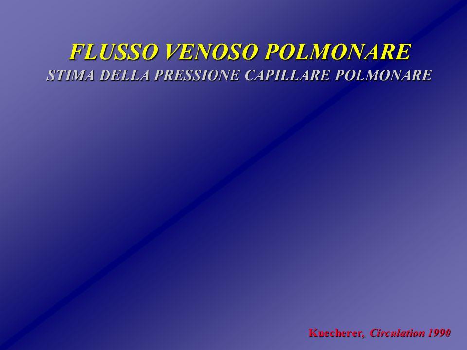FLUSSO VENOSO POLMONARE STIMA DELLA PRESSIONE CAPILLARE POLMONARE
