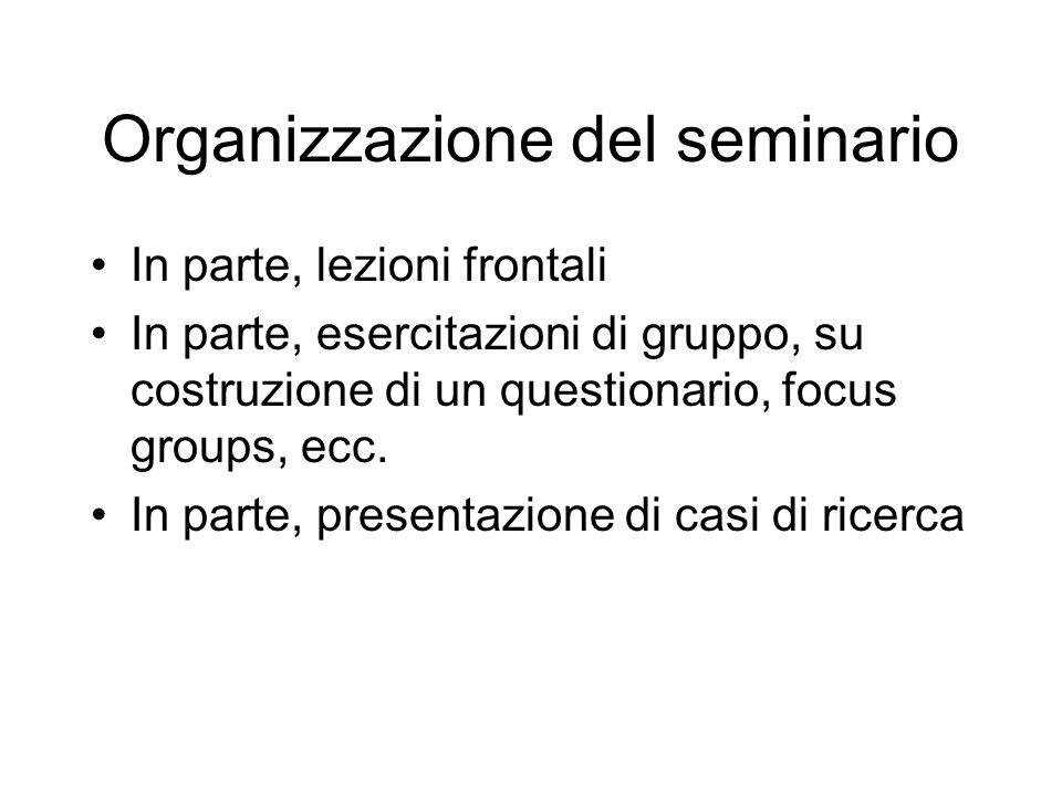 Organizzazione del seminario
