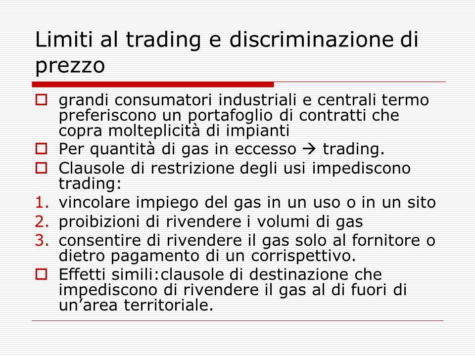 Limiti al trading e discriminazione di prezzo