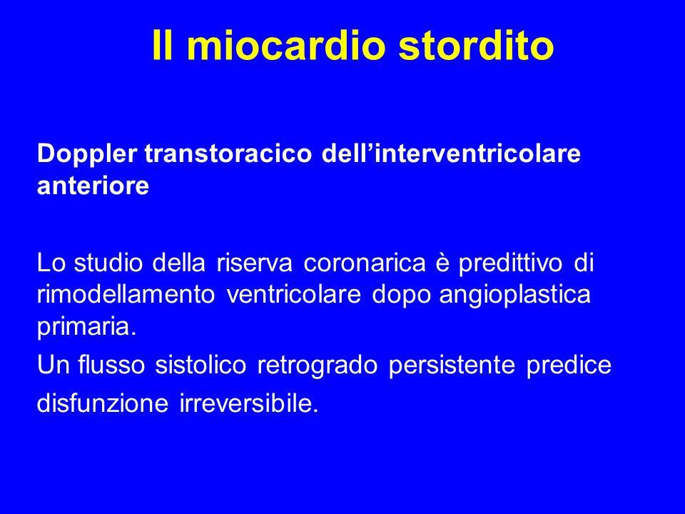 Il miocardio stordito Doppler transtoracico dell'interventricolare anteriore.