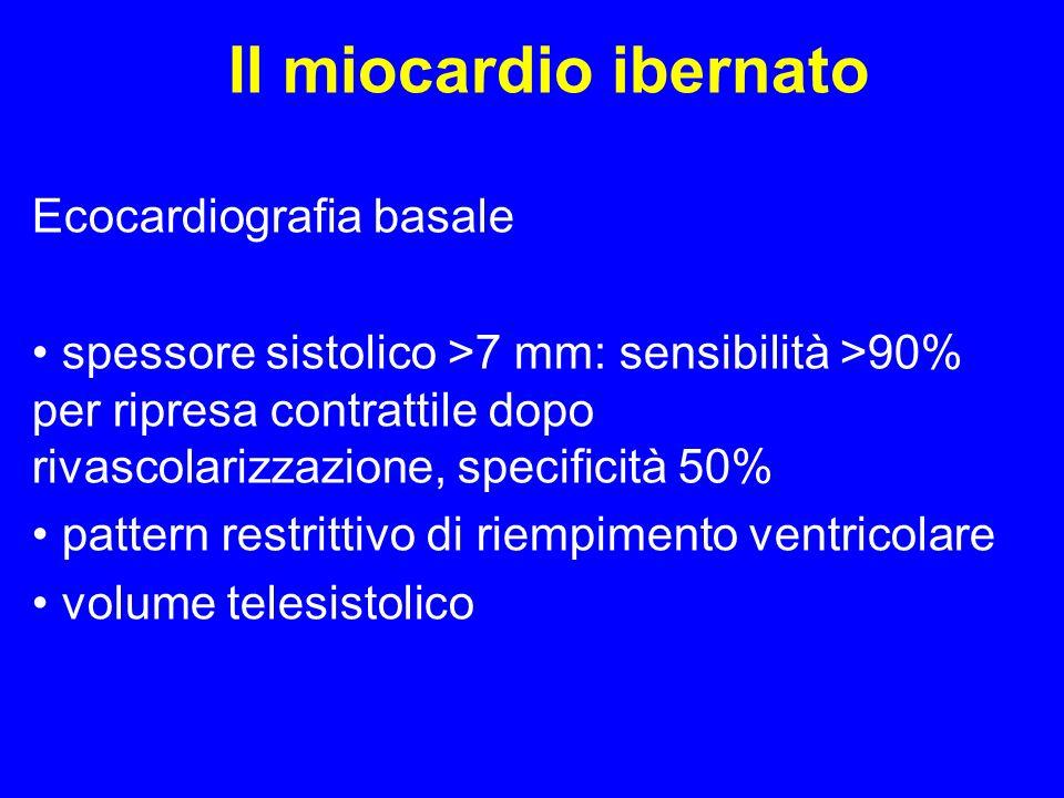Il miocardio ibernato Ecocardiografia basale