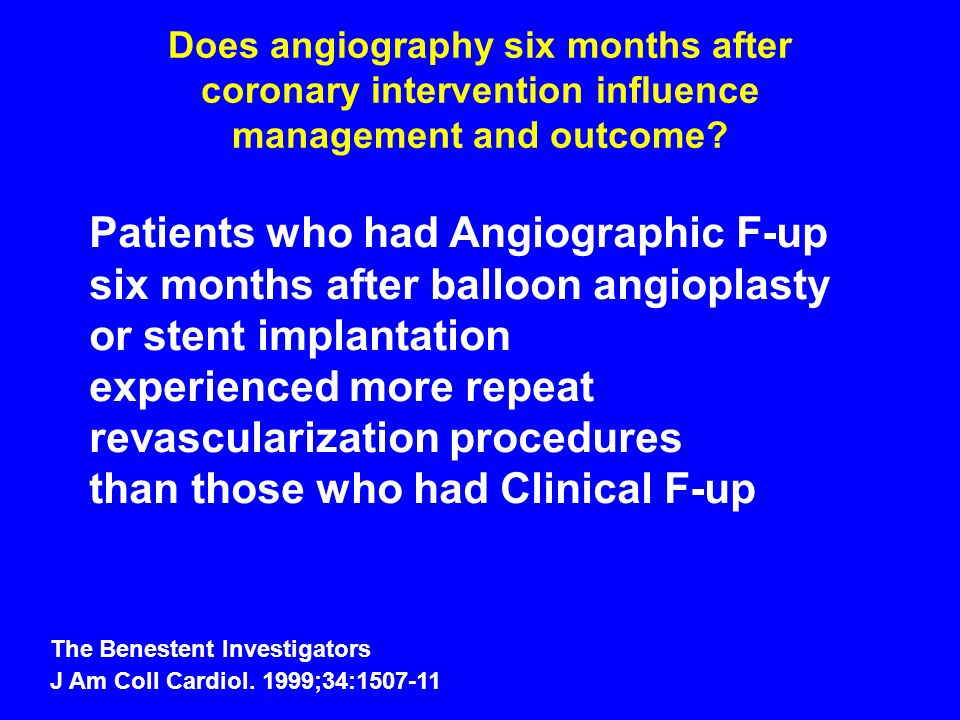 Patients who had Angiographic F-up