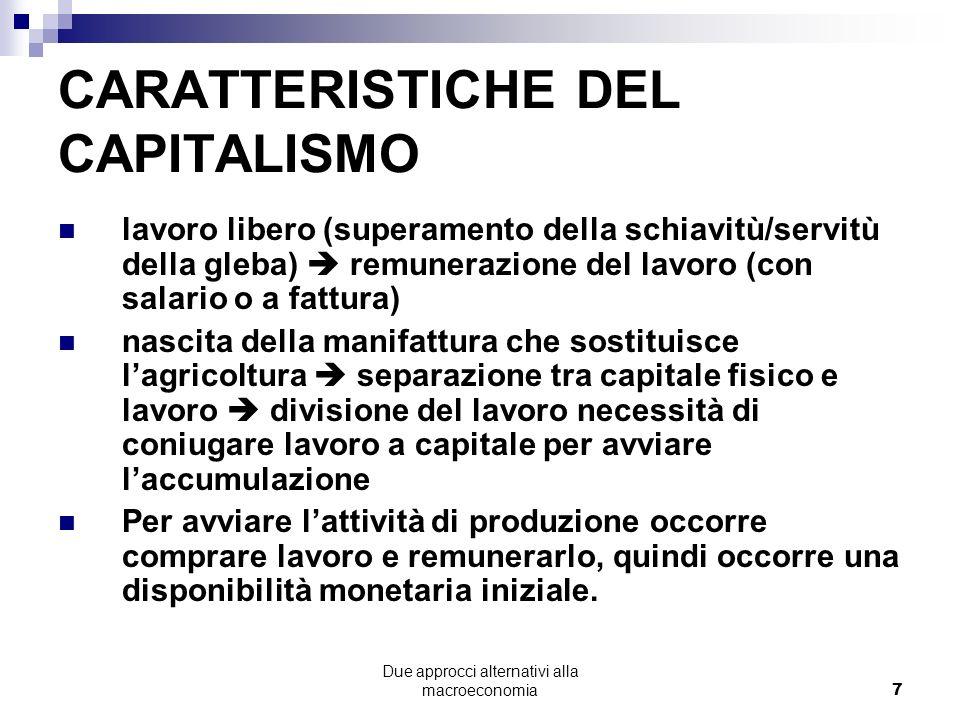 CARATTERISTICHE DEL CAPITALISMO