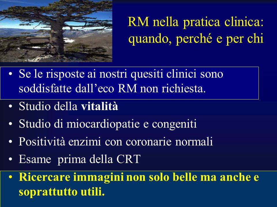 RM nella pratica clinica: quando, perché e per chi