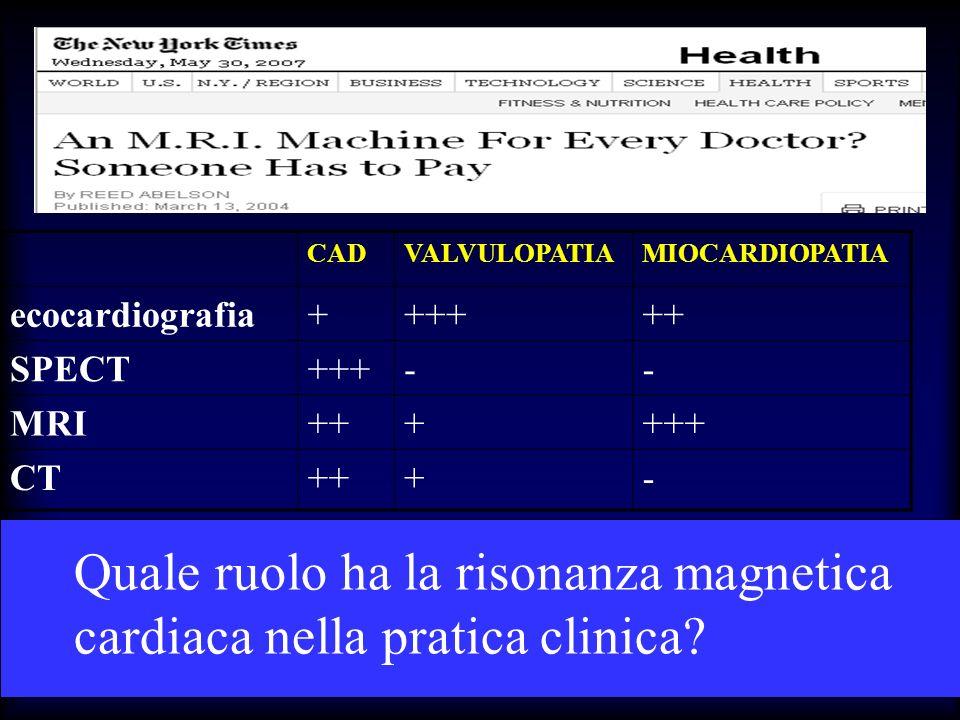 Quale ruolo ha la risonanza magnetica cardiaca nella pratica clinica