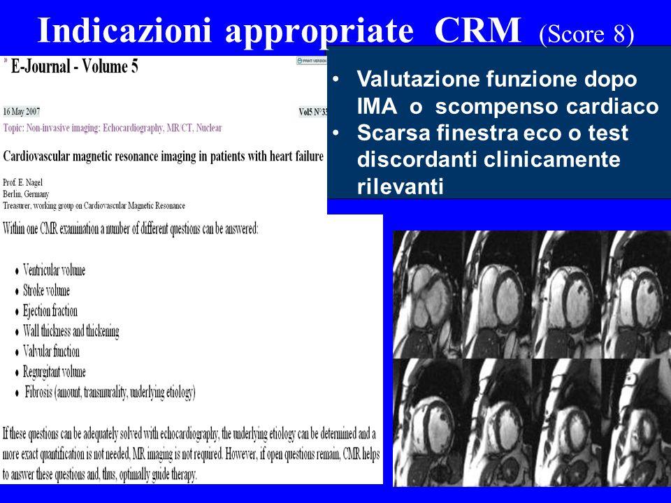 Indicazioni appropriate CRM (Score 8)