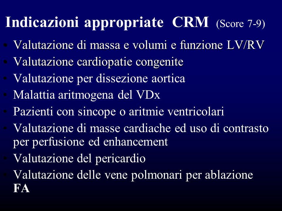 Indicazioni appropriate CRM (Score 7-9)
