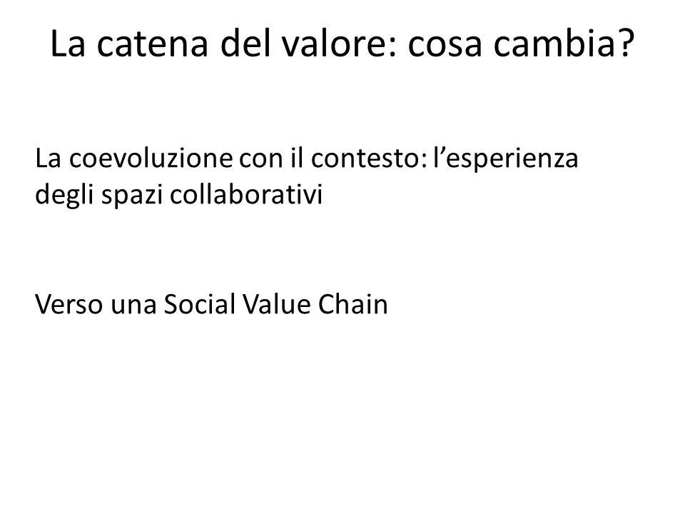 La catena del valore: cosa cambia