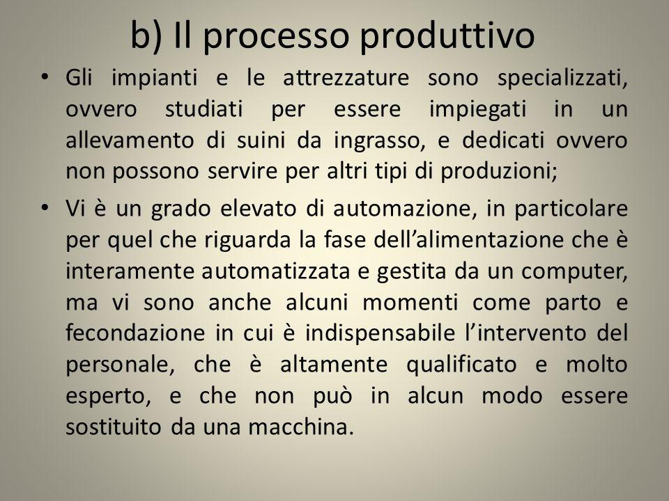 b) Il processo produttivo