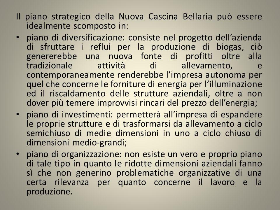 Il piano strategico della Nuova Cascina Bellaria può essere idealmente scomposto in: