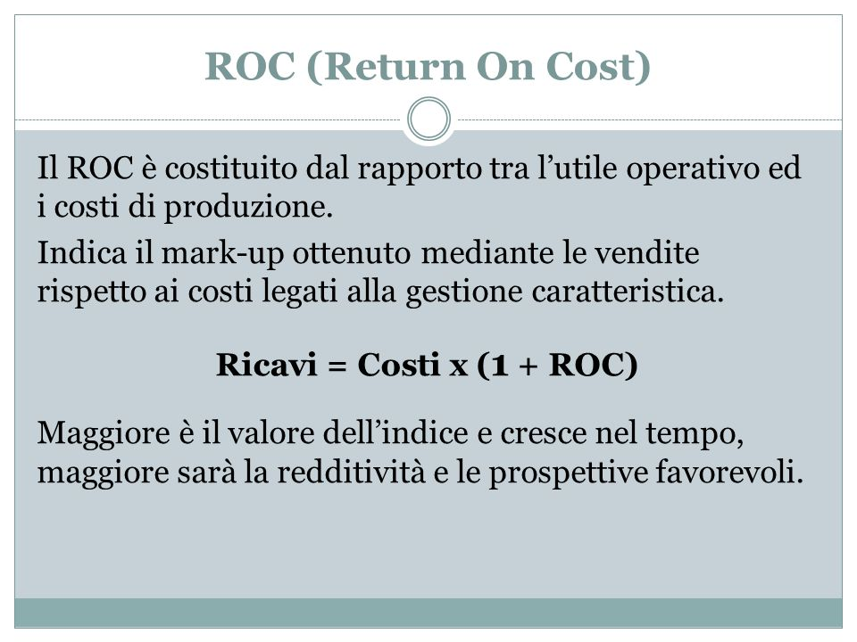 ROC (Return On Cost)