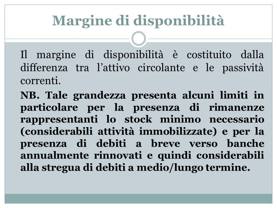 Margine di disponibilità