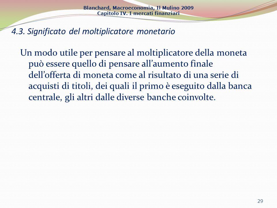 4.3. Significato del moltiplicatore monetario