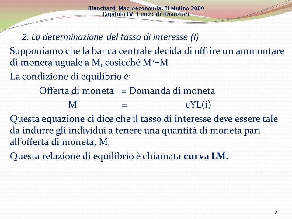 2. La determinazione del tasso di interesse (I)