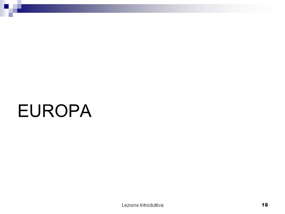 EUROPA Lezione Introduttiva
