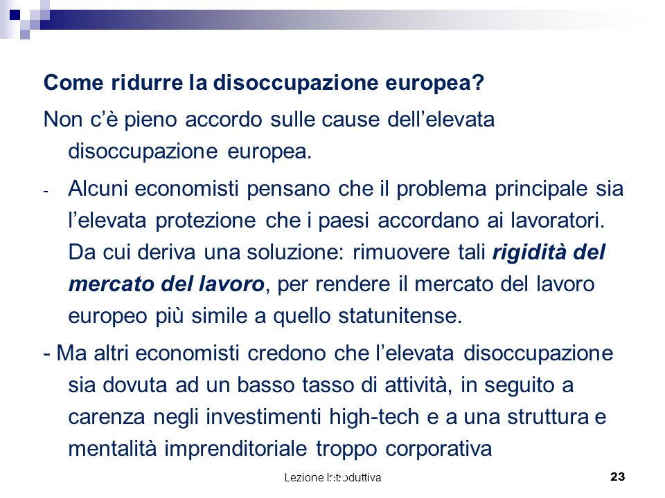 Come ridurre la disoccupazione europea