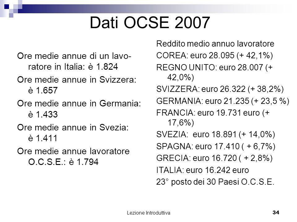 Dati OCSE 2007