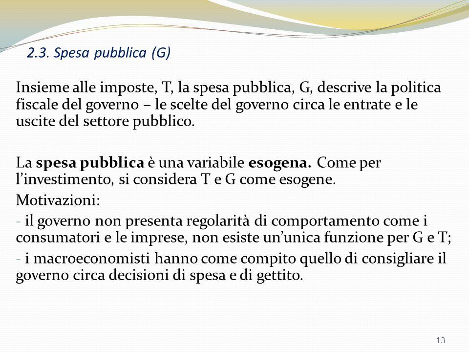 2.3. Spesa pubblica (G)