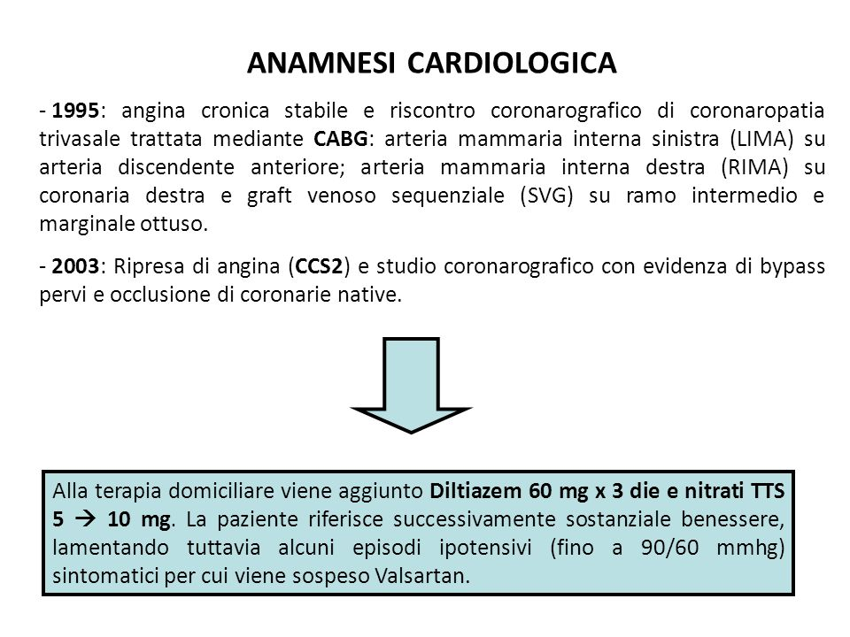 ANAMNESI CARDIOLOGICA