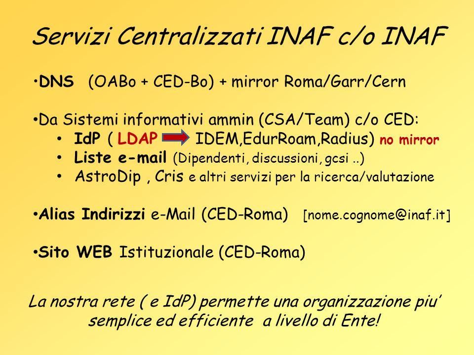 Servizi Centralizzati INAF c/o INAF