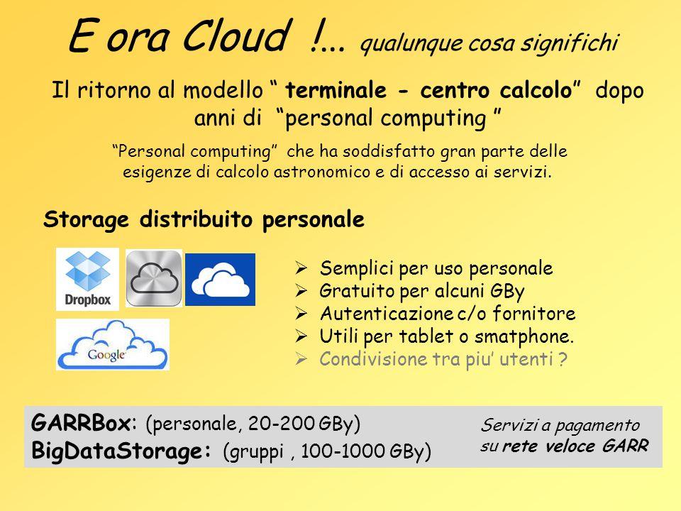 E ora Cloud !… qualunque cosa significhi