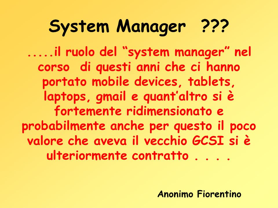 System Manager