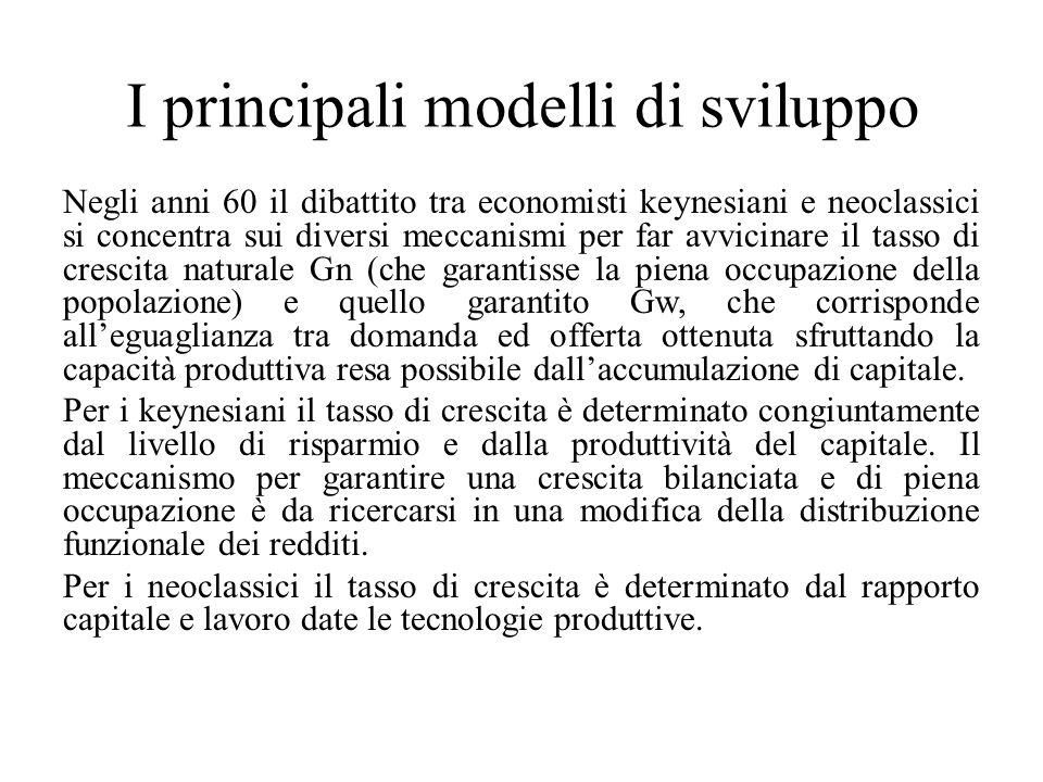 I principali modelli di sviluppo