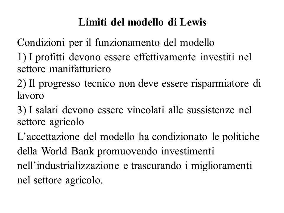 Limiti del modello di Lewis