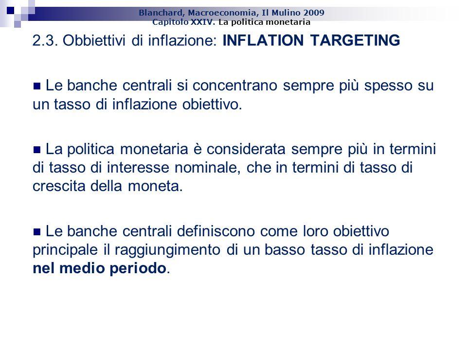 2.3. Obbiettivi di inflazione: INFLATION TARGETING