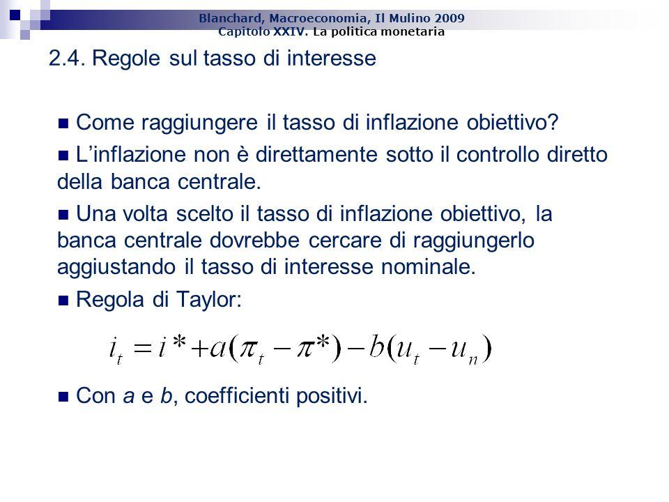 2.4. Regole sul tasso di interesse