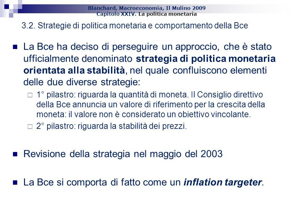 Revisione della strategia nel maggio del 2003