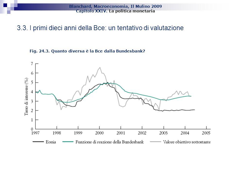 3.3. I primi dieci anni della Bce: un tentativo di valutazione
