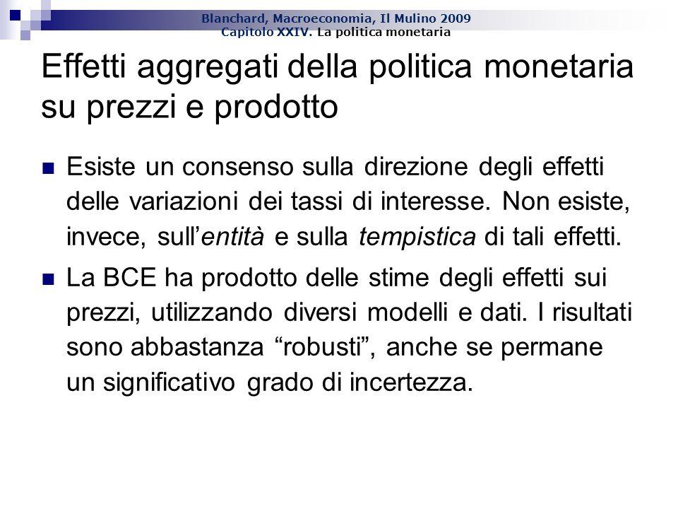 Effetti aggregati della politica monetaria su prezzi e prodotto